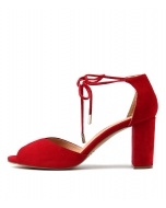 TEMPLE RED SUEDE
