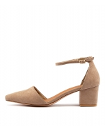 CROSSBOW TAUPE MICROSUEDE