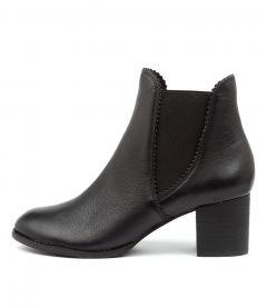 Sadore Black Black Heel Leather