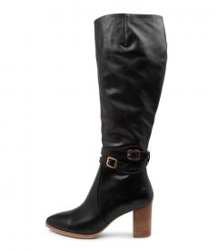 ANDREA DJ BLACK NATURAL HEEL LEATHER