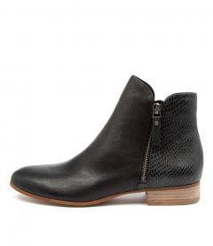 Fabro Dj Black Print Leather
