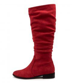 Lirama Red Microsuede
