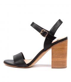 OLLIVER MO BLACK NATURAL HEEL LEATHER