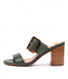 ALLANA DEEP GREEN LEATHER