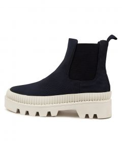 Piah Mo Navy White Sole Canvas