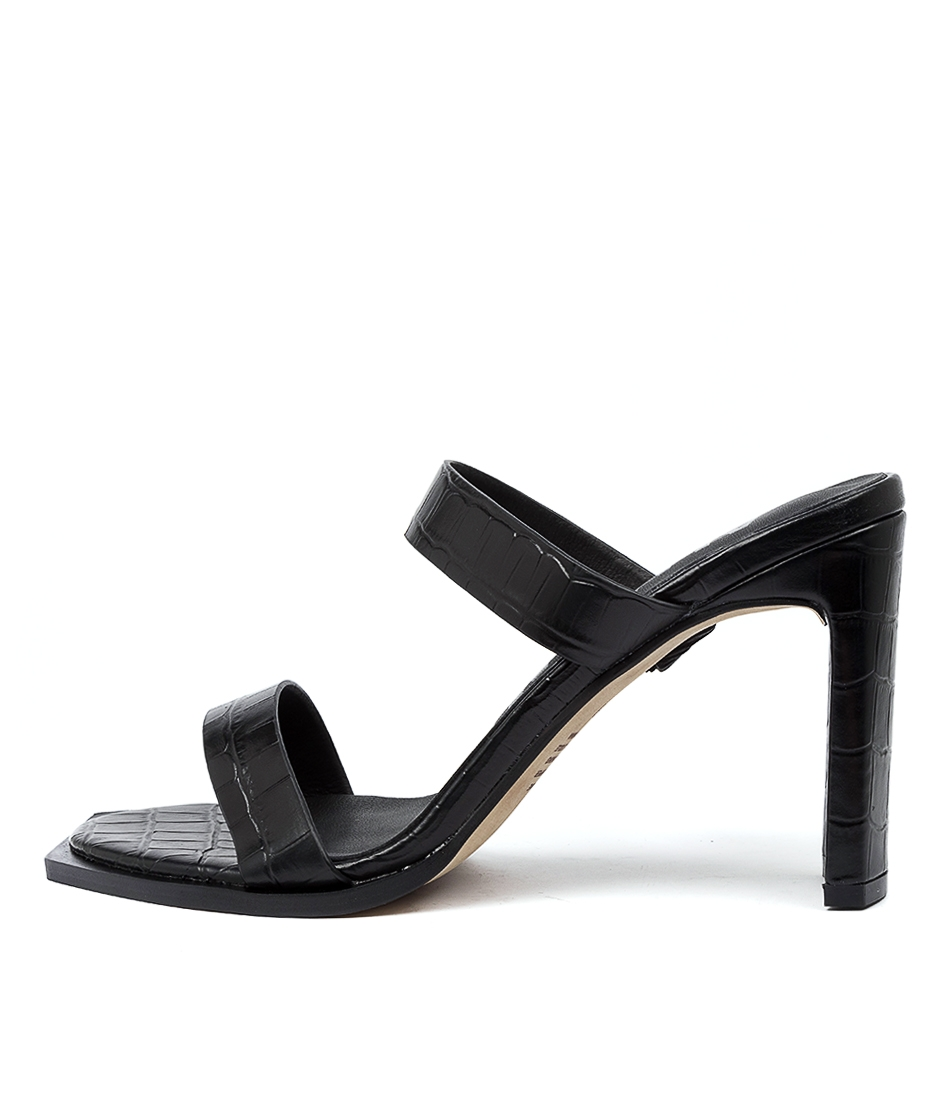 Cleo Black Croc by Alias Mae