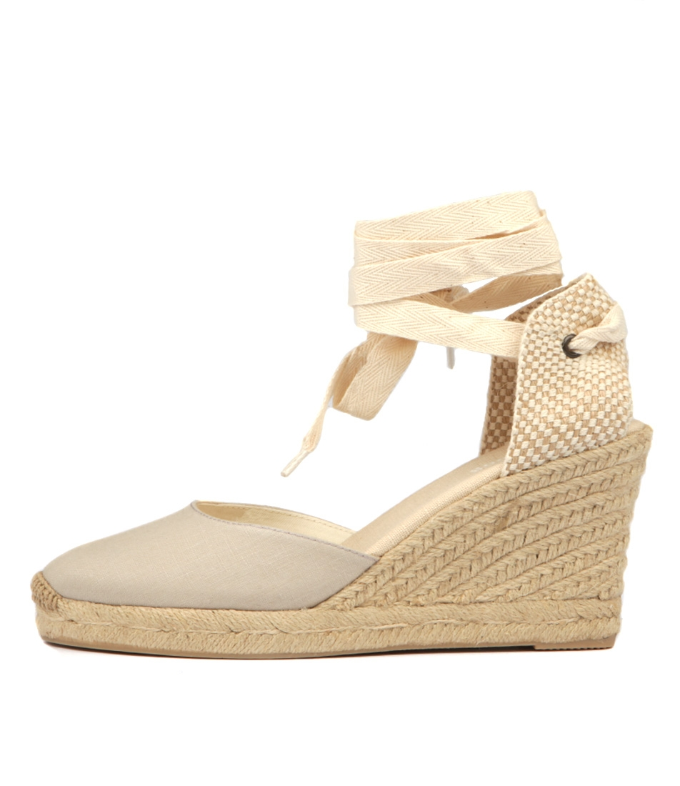 89823f8486c TALL WEDGE LT GREY LINEN by SOLUDOS - at Wanted