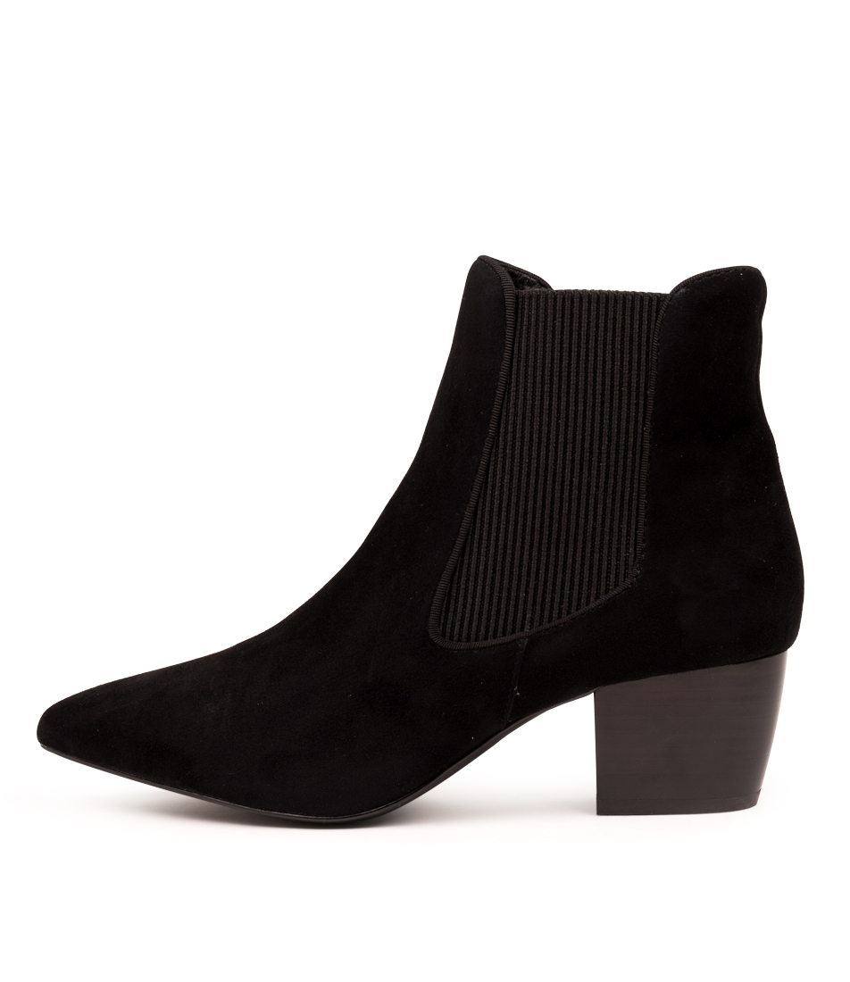 6930100df ELLA BOOT BLACK SUEDE by SOL SANA - at Wanted