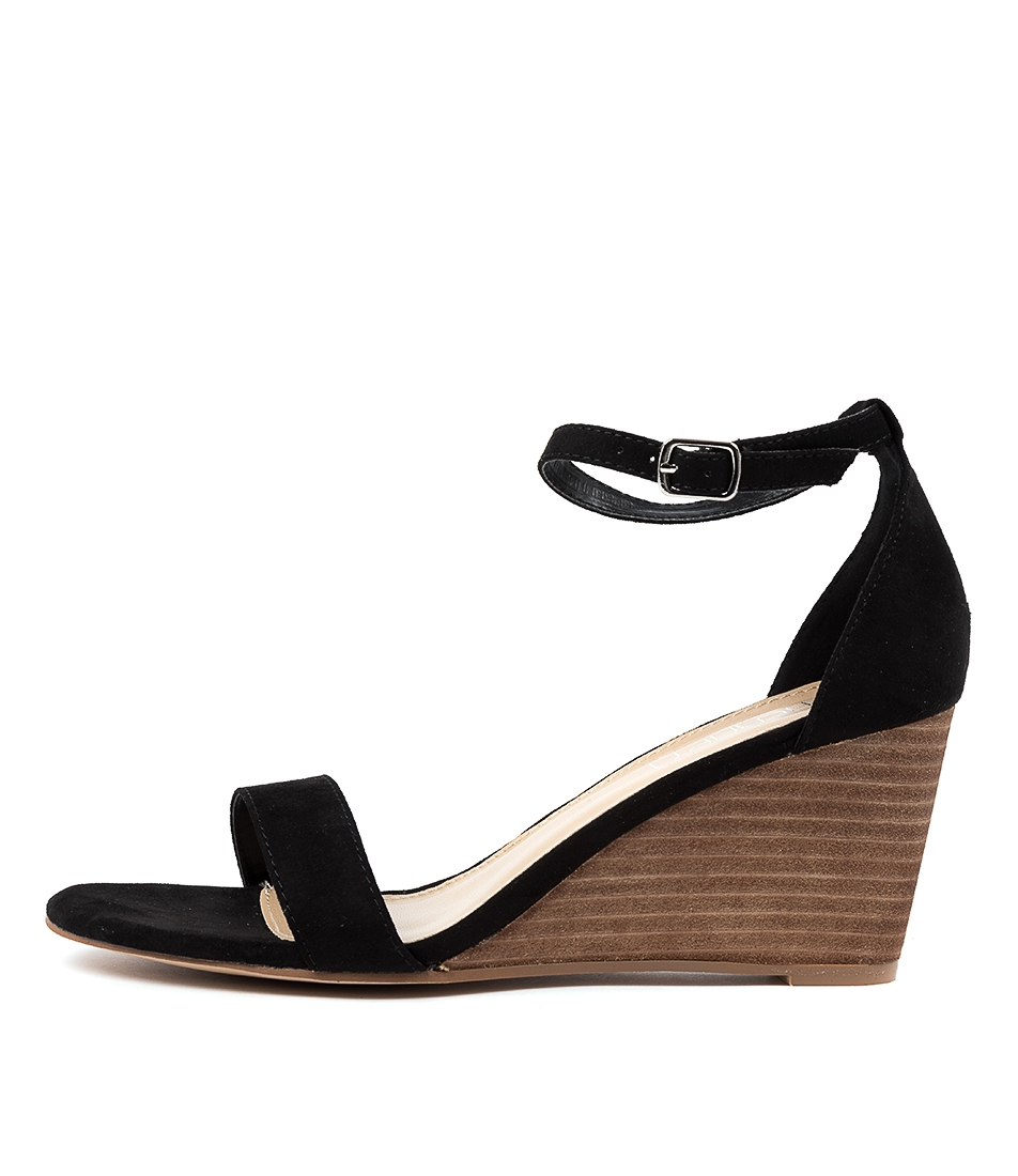 Hazel Th Black Microsuede by Therapy