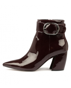 AKILAH BURGUNDY PATENT LEATHER