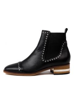 FERRAS BLACK NATURAL HEEL LEATHER
