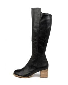 SETLEY BLACK NATURAL HEEL LEATHER STRETCH SMOOTH