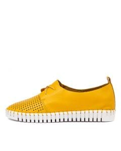 HUSTON BUTTERCUP WHITE SOLE LEATHER