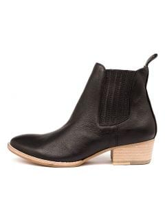 LEATTY BLACK NATURAL HEEL LEATHER