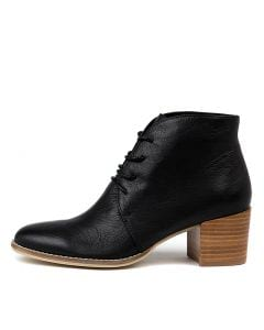 MAHALIE BLACK NATURAL HEEL LEATHER