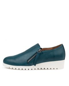 NEWMAN DU TEAL WHITE SOLE LEATHER