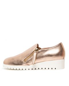 NEWMAN DU ROSE GOLD WHITE LEATHER