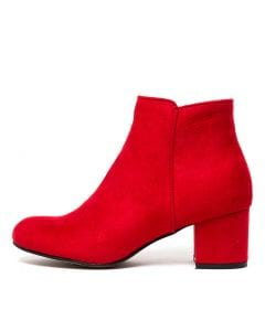 3e13d2c313b8 I LOVE BILLY karda red microsuede