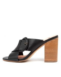 OSIE BLACK NATURAL HEEL LEATHER