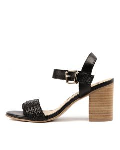 AILIE BLACK NATURAL HEEL LEATHER