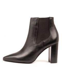 CASABLAN BLACK BLACK HEEL LEATHER