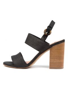 OGOSH MO BLACK NATURAL HEEL WOVEN