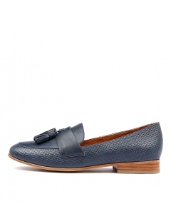 LINE NAVY EMBOSSED LEATHER
