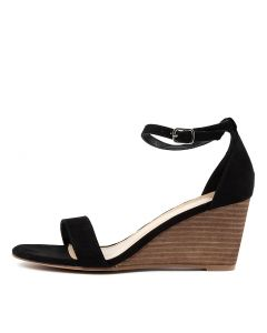 HAZEL TH BLACK MICROSUEDE